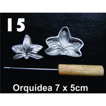 Frisador Modelagem De Flores Tecidos E Eva Orquídea 15