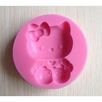 Hello Kitty Forma Molde Silicone Chocolate Sabonete Biscuit