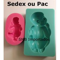 2 Moldes De Silicone Bebê Baby Biscuit Etc - 8cm E 11cm