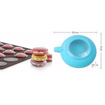 Kit Com Dosador + Molde (forma) De Silicone Macarons 30 Cel