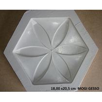Forma De Silicone Para Placa De Gesso Estela Ou Estrela 3d