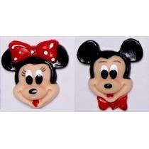 Molde De Silicone Kit Rosto Mickey E Minnie Biscuit Sabonete