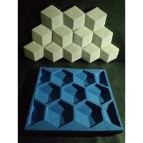 Molde Silicone Mosaico Em Gesso Colmeia