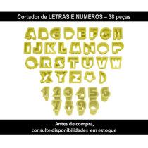 Kit Cortador De Letras E Números Plastico Blue Star Net 38pç