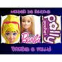 100 Moldes De Silicone P/artesanato Bonecas Barbie E Polly