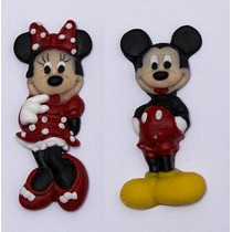 Molde De Silicone Kit Mickey E Minnie P/ Biscuit