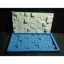 Molde Forma De Silicone Mosaico Gesso Chip Madeira 14x26 Cm