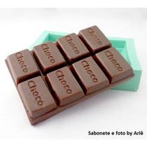 01 Molde De Silicone Barra De Chocolate Choco