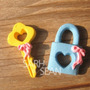 Molde Silicone Chave Cadeado Alice Biscuit Bolo Cupcake