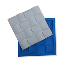 Forma Para Placa De Gesso Mosaico Ondulado 30x30 - Silicone