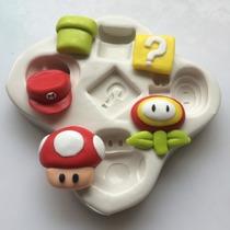 Kit De Moldes De Silicone Mario Bros