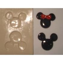 Molde De Silicone Cod-v 150 Mickey Minei- 3x2,7- 55grs