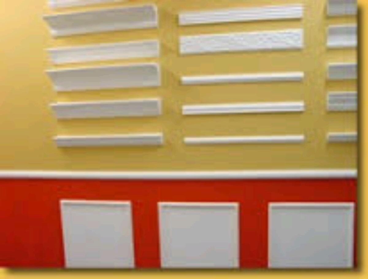 Moldura De Gesso Teto E Parede R$ 14 50 no MercadoLivre #AF2002 1200x909 Banheiro Com Moldura De Gesso