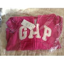 Novo - Moletom Com Ziper Gap Rosa 12-18meses Em Sp