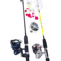 Pesca - Kit 2 Molinete+2 Varas+ Acessórios - Super Promoção