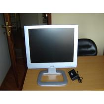 Monitor Fonte Lcd Hp 17 P C/ Defeito 2 Caixas De Som+ Fonte.