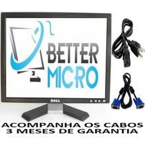 Monitor Lcd Dell 17 Polegadas C/ Garantia * Acompanha Cabos