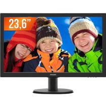 Monitor Led 23,6 Full Hd 1 Hdmi 243v5qhab Philips