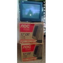Monitor Aoc Crt 17 Polegadas, Cor Preta, Novo Na Caixa R$120