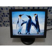 Monitor Lcd 15 Lenovo - Funcionando 100% Ok - Pode Retirar
