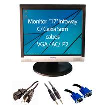 Super Promoção Monitor 17 Polegadas C/áudio E Vga C/cabos