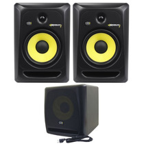 Kit Monitor De Audio Referencia Krk Rp8 G3 + Krk Sub 10s