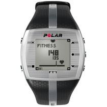 Relógio Monitor Cardíaco Polar Ft7 Preto/ Prata Frete Grátis