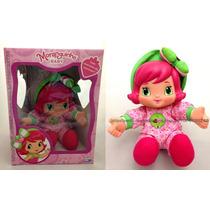 Boneca Moranguinho Baby Original Multibrink Bebê Menina Rosa