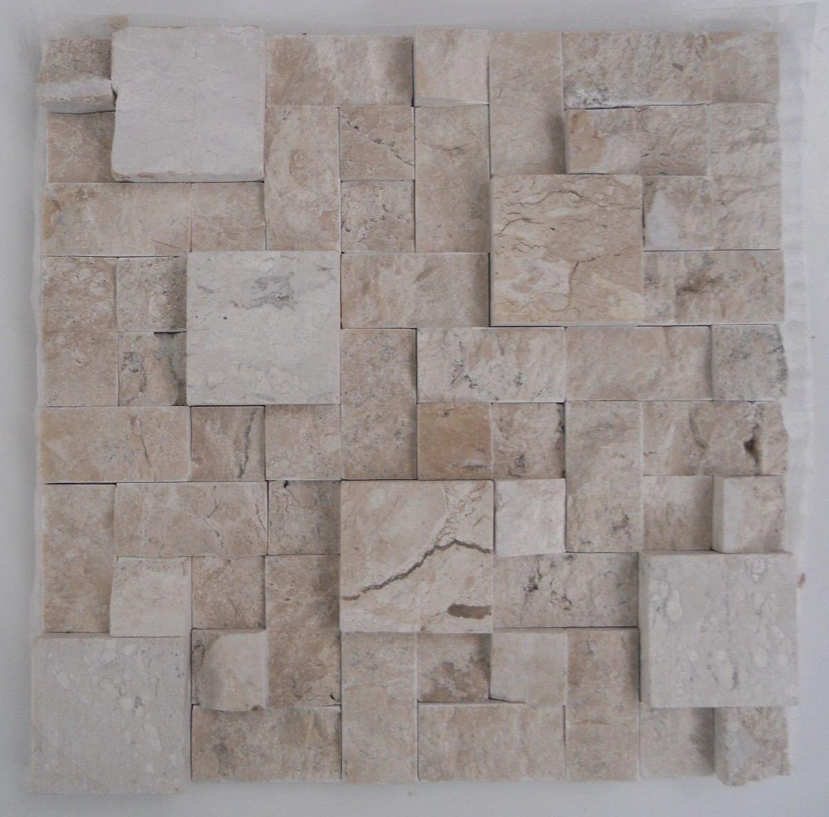 Mosaico De Mármore Branco/mármore Travertino Bege Bahia tela R$ 16  #655A52 1200x1183 Balança De Banheiro Digital Casas Bahia
