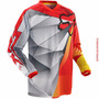 Camisa Fox Hc 180° Radeon 14 Size Gg Trilha Enduro Motocross