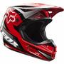 Capacete Fox V1 Race Vermelho Motocross Enduro Trilha
