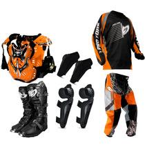 Kit Roupa Piloto Trilha Motocross Insane Pro Tork