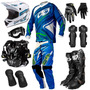 Kit Insane 3 Pro Tork Equipamento Trilha Motocross + Brinde