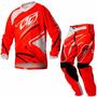 Calça E Camisa Infantil Insane 3 Red Pro Tork