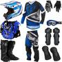 Kit Equipamento Pro Tork Insane 4 Piloto Trilha Motocross