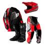 Kit Conjunto Roupa Motocross Trilha Bota Capacete + Brinde