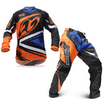 Kit Roupa Para Motocross Pro Tork Insane 4 Laranja E Azul