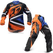 Kit Roupa Motocross Pro Tor Insane 4 Calça Camisa M Trilha