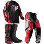 Kit Conjunto Motocross Bota Calça Camisa Insane Pro Tork