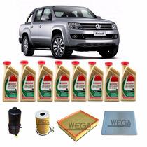 Kit Troca De Óleo Castrol Edge 5w30 Volkswagen Amarok Diesel
