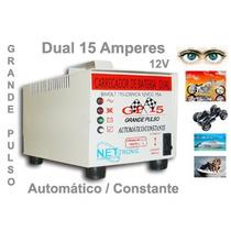 Carregador De Bateria 15 Amperes 12 Volts - Dual (aut./man.)