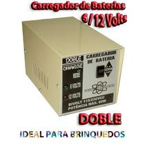 Carregador De Bateria 2 Em 1- Doble - Único 6 E 12 Volts