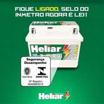 Bateria Automotiva 60ah Heliar Selada Com Assistência 24 Hs