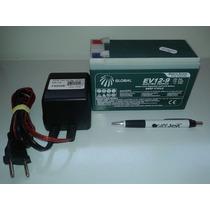 Bateria Selada 12v 9ah Ciclo Profundo E Carregador 12v 0,5a