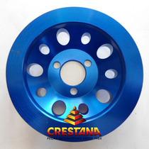 Polia Da Bomba Dagua Para Motor Ap Aluminio Billet Azul