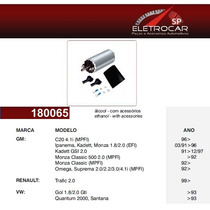 Bomba De Combustivel Alcool Gm Chevrolet C20, Omega, Suprema