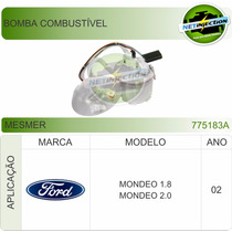 Bomba Combustível Ford Mondeo 1.8/2.0 2002 0986580406