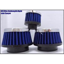 Filtro Esportivo Fusca Kit Dupla Carburação Promoção Min Az