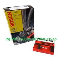 Kit Cabo + Vela Fiesta Ka Courier 1.6 8v Zetec Gasolina Flex