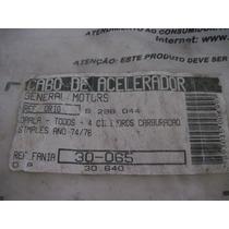 Cabo Acelerador Opala 4 Cilindros Ano 74 A 78